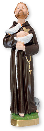 8 1/2 inch Plaster Statue/St. Francis   (5559)