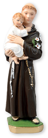 12 3/4 inch Plaster Statue/St. Anthony   (5566)