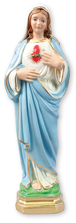 11 3/4 inch Plaster Statue/S.H.Of Mary   (5574)