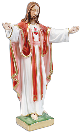 16 inch Plaster Statue/Sacred Heart MM   (5595)