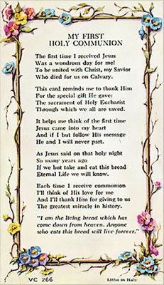 Verse Leaflet/First Communion   (7135/266)