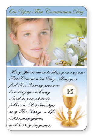 Prayer Card/Communion/Boy   (71783)