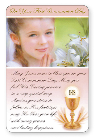 Prayer Card/Communion/Girl   (71784)