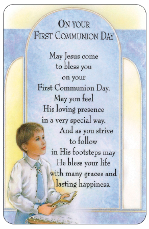 Prayer Card/Communion/Boy   (71791)