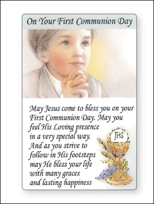 Prayer Leaflet/Communion/Boy   (71793)