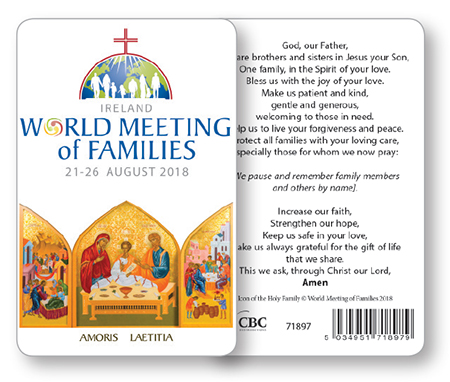 Prayer Leaflet/World Meeting of Families   (71897)