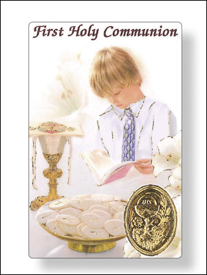 Prayer Card/Communion/Boy   (71941)
