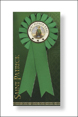 Patrick's Day Rosette with Picture   (8545)