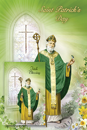 Saint Patrick's Day Card with Laminated Leaflet   (85500)