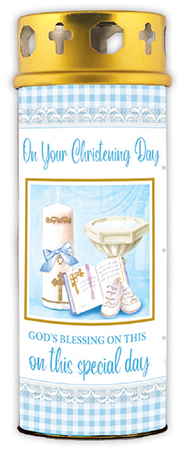 Candle/Christening - Baby Boy   (8635)