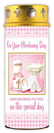 Candle/Christening - Baby Girl   (8636)