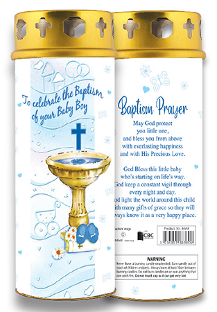 Candle/Christening - Baby Boy   (8638)