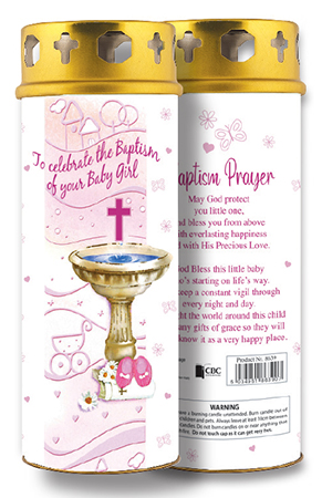 Candle/Christening - Baby Girl   (8639)