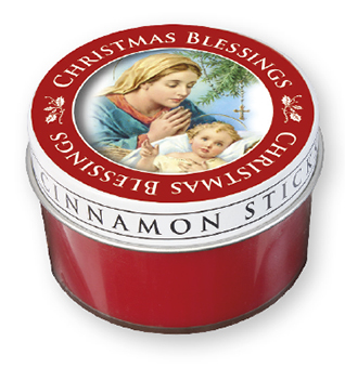 Christmas Scented Nativity Candle   (86901)