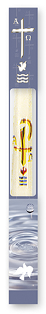 Baptismal Candle - Beeswax   (8723)
