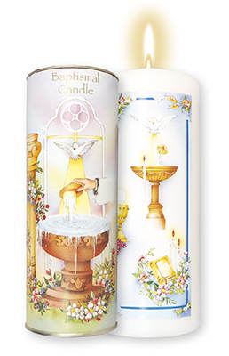 Boxed Baptismal Candle   (8724)