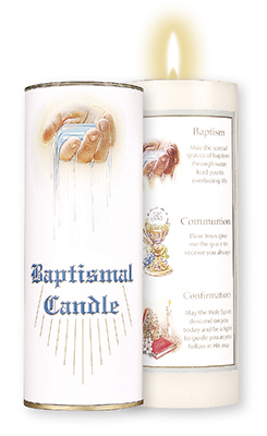 Boxed Baptismal Candle   (8728)