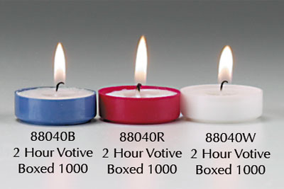 2 Hour Votive Lights - White   (88040W)