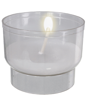 1 1/2 Hour Votive Light/Clear ( 200 Per Box )   (8807/CL)
