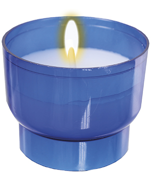 8 Hour Votive Light/Blue (200 Per Box )   (8810/BLUE)