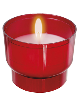 8 Hour Votive Light/Red (200 Per Box )   (8810/RED)
