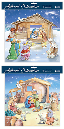 Advent Calendar/ 2 Designs with Glitter   (95023)