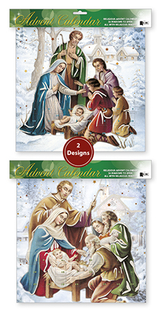 Advent Calendar/ 2 Designs with Glitter   (95039)