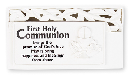 Resin Communion Plaque With Light   (C3613)