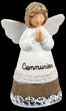 Resin 4 1/4 inch Message Angel/Communion   (C39301)