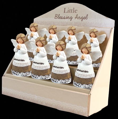 Resin 4 1/4 inch Message Angel/Communion   (C39305)