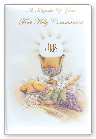 Communion Padded Keepsake/Symbolic   (C4009)