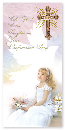 Confirmation Boxed Girl Card -  Daughter   (F2383)