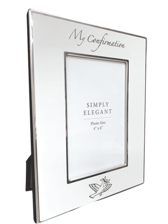 Confirmation Metal Photo Frame/Symbolic   (F46182)