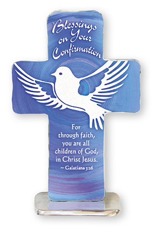 Confirmation Artmetal 4 inch Standing Cross   (F46482)
