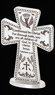 Confirmation Pewter Cross/3 inch Standing   (F4650)