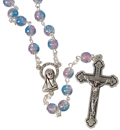Loose Glass Rosary/Blue   (L/6304/BLUE)