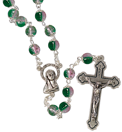 Loose Glass Rosary/Green   (L/6304/GREEN)