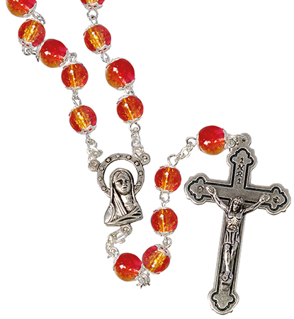 Loose Glass Rosary/Red   (L/6304/RED)